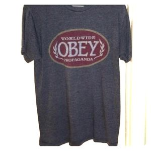 Awesome vintage obey medium tee shirt